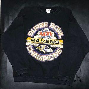Other - Vintage 2001 Ravens Super Bowl Sweatshirt
